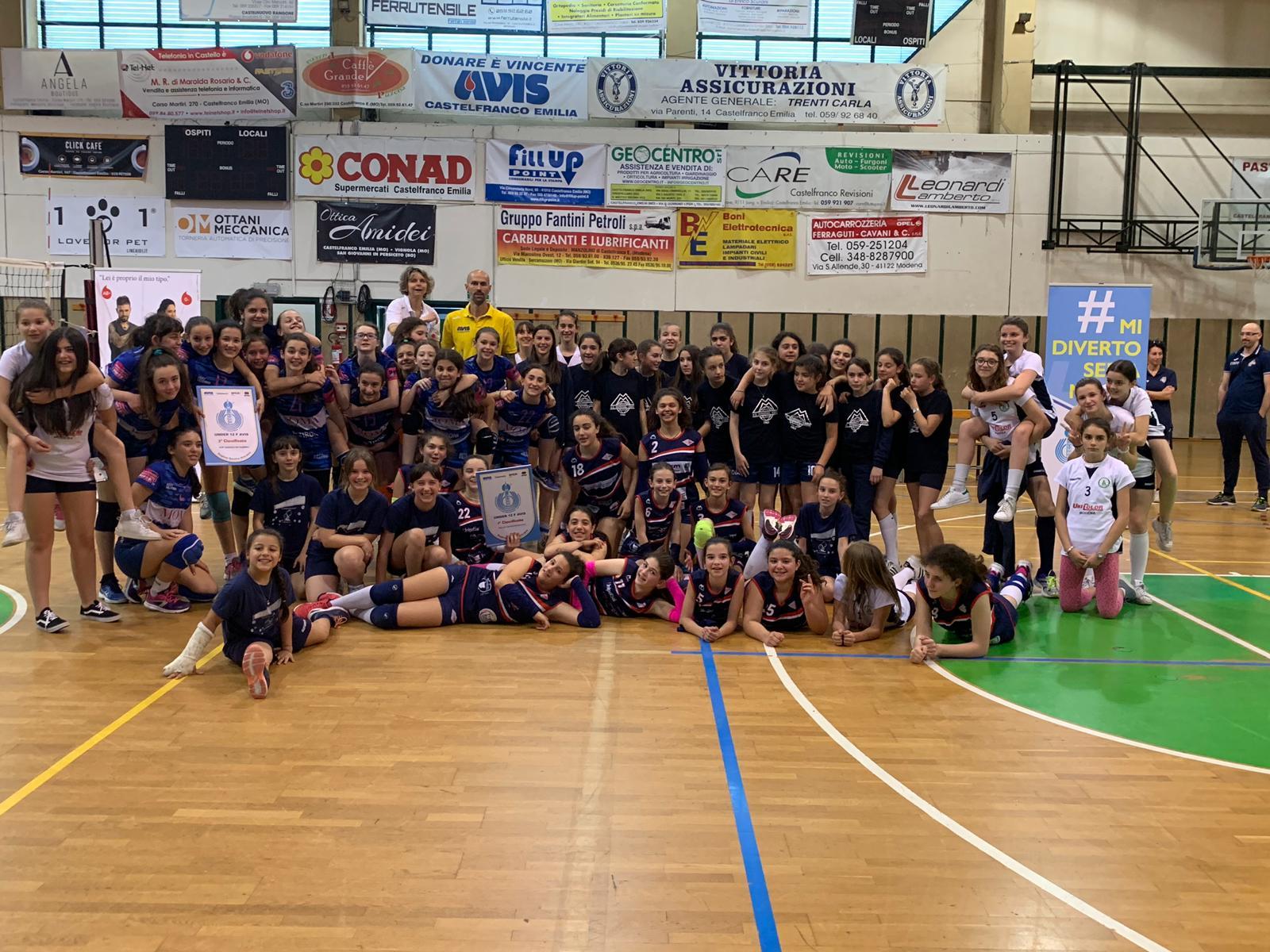 Volley Castelvetro Under 12 è campione provinciale!